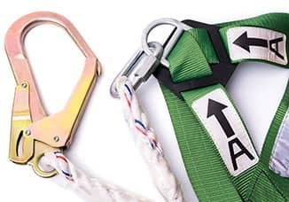 Fall pro safety harness for a safety training course