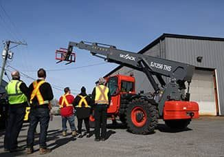 A telehandler safety training certification course at Advantage Learning Solutions